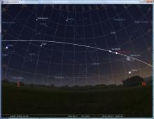 sky map for STS-133
